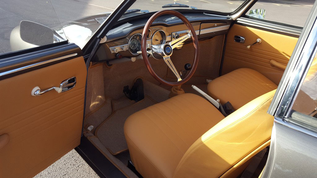 Interior of a 1966 Karmann Ghia